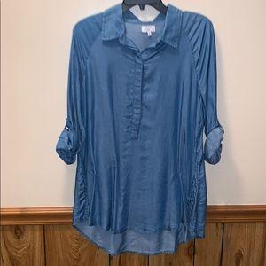 Linen jean 3/4 tunic Size PM